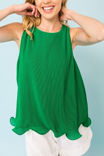 A Baby Pleated Sleeveless Top
