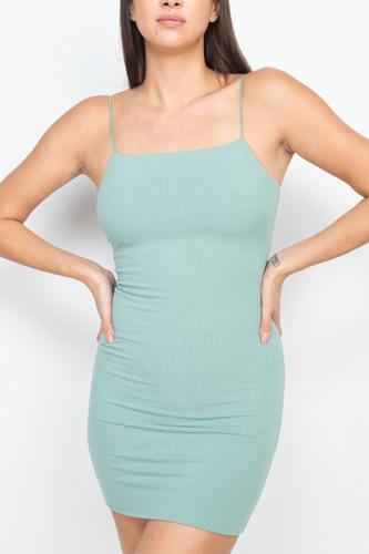 Ribbed Sleeveless Mini Dress