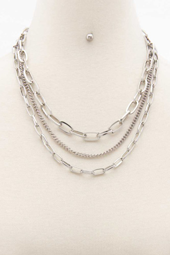 Oval Link Layered Necklace