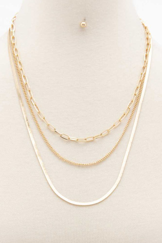 Flat Snake Chain Layered Necklace