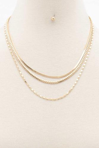 Flat Snake Layered Necklace
