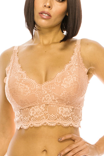 Floral Lace Overlay Bralette