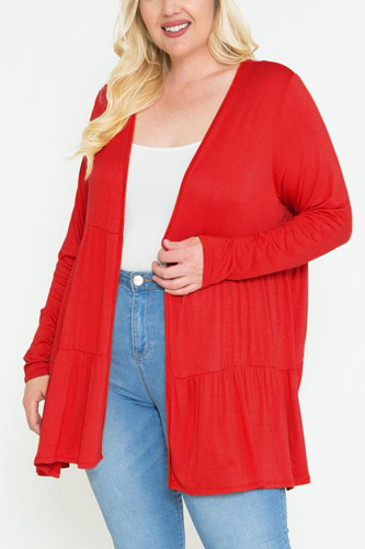 Solid Long Sleeve Cardigan