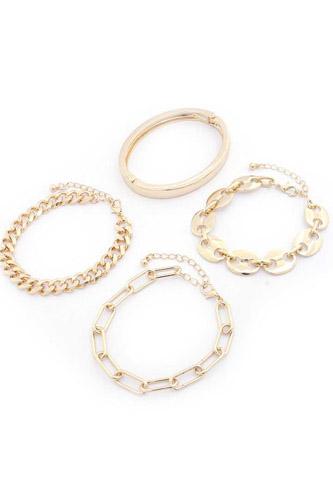 Sodajo Oval Cuban Link Bracelet Set