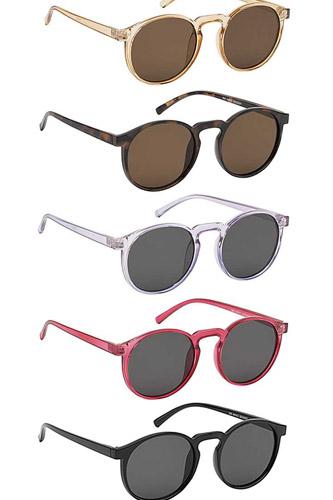 Trendy Rounded Plain Frame Sunglasses