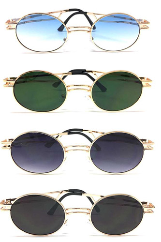 Fashion Stylish Rounded Metal Sunglasses
