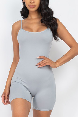 Sexy Backless Cami Romper