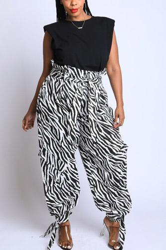 Zebra Printed Baggy Cargo