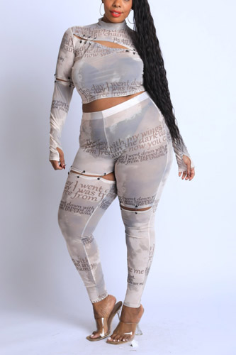 Safety Pin Detailed Cut Out Mesh Set