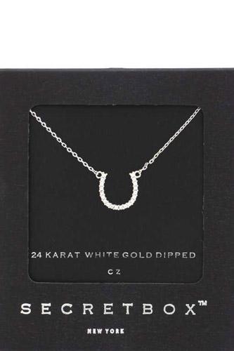 Secret Box Horse Shoe Charm Necklace
