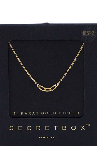 Oval Link 14k Gold Dipped Necklace