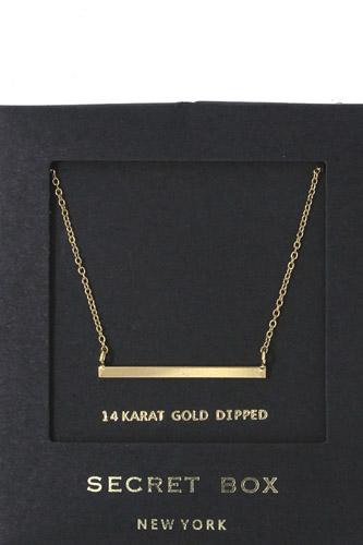 Metal Bar Pendant Necklace