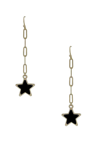 Chain Link Marble Star Earring