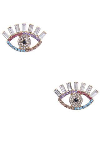 Rhinestone Eye Post Earring