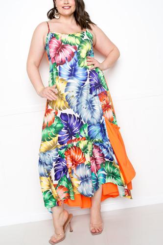 Splice Tropical Dress