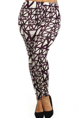 Optical Print, High Waist Leggings. Leggings Are Fully Lined. Cotton Spandex Printed Leggings