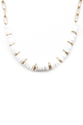 Two Tone Color Bead Necklace
