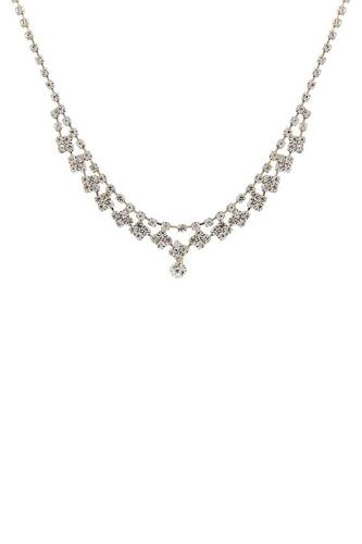 Stylish Rhinestone Design Crystal Necklace