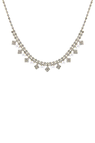 Rhinestone Fashion Multi Design Necklace