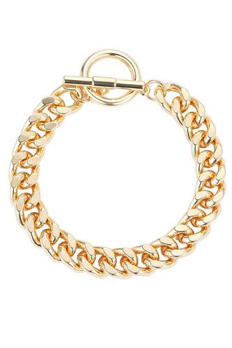 Fashion Chunky Link Chain Toggle Bracelet