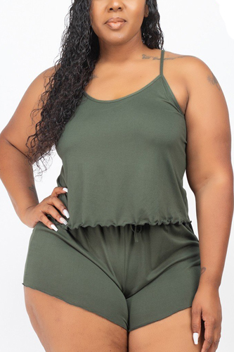Plus Size Cami Top And Shorts Set