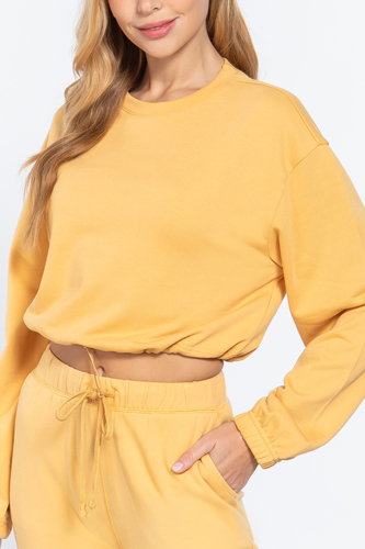 Adjustable Waist French Terry Top
