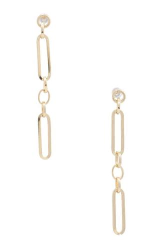 Oval Link Metal Dangle Earring