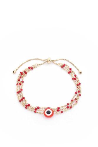 Eye Beaded Slide Bracelet