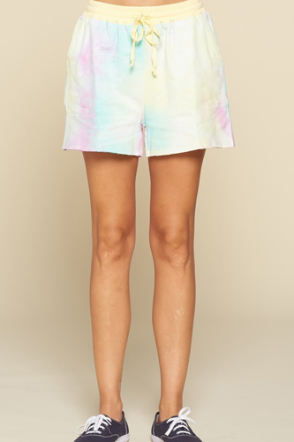 Tie-dye Printed Jersey Shorts