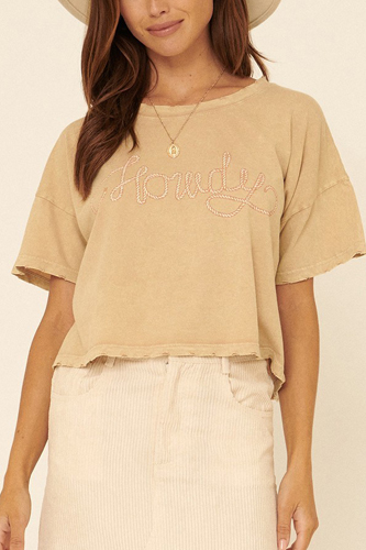 A Mineral-washed Graphic Tee