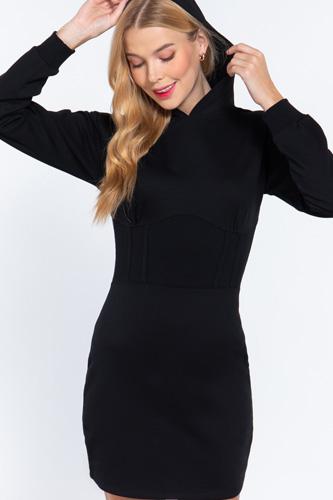 Hoodie French Terry Mini Dress