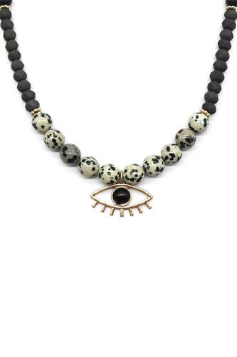 Evil Eye Lash Bead Necklace