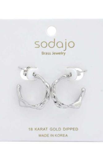 Sodajo Organic Shape 18k Gold Dipped Earring