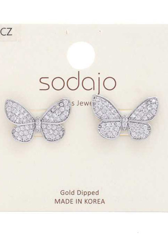 Metal Butterfly Gold Dipped Earring