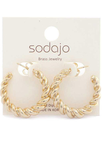 Croissant Open Circle Earring