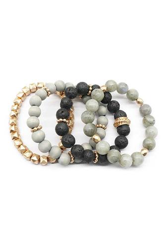 Fashion Ball Bead Metal Bracelet Set
