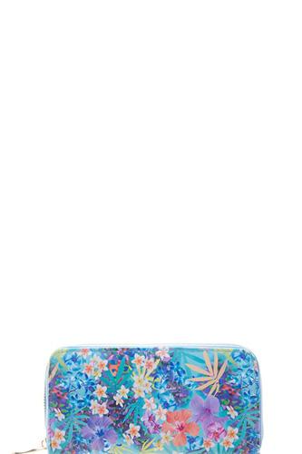 Floral Light Color Print Wallet