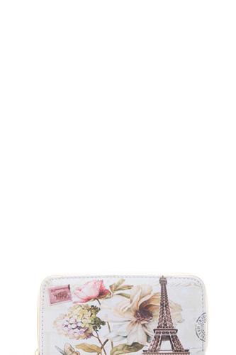 Tower Flower Print Wallet