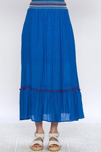 Gauze Skirt Features Elastic Waistband