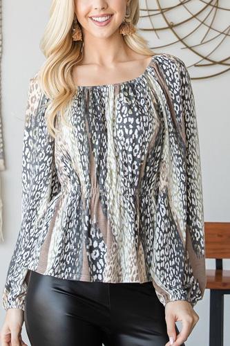 Beautiful Leopard Print Tunic Top