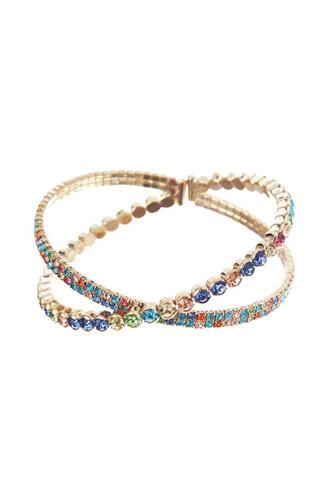 Kriss Kross Chunky Rhinestone Bracelet
