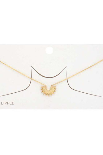 Half Sun Gold Dipped Necklace
