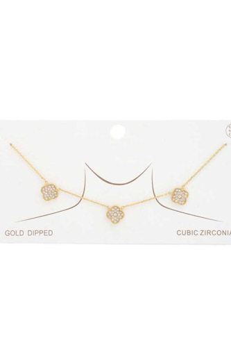 Moroccan Shape Gold Dipped Necklace