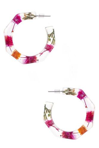 Resin Flower Earring
