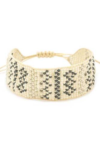 Seed Bead Thread Bracelet