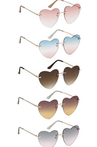 Trendy Cool Vibe Heart Shape Sunglasses