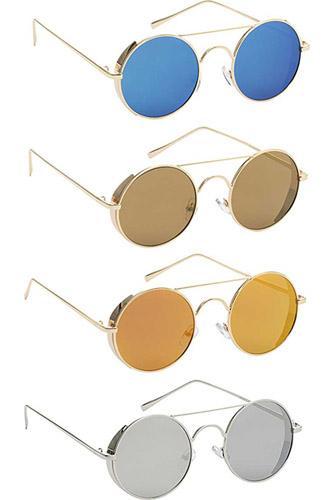 Fashion Round Metal Barrier Sunglasses