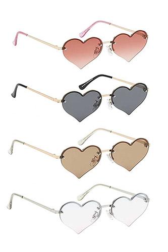 Chic Fashion Heart Sunglasses