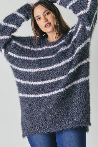 Plus Sweater With Stripe Detail
