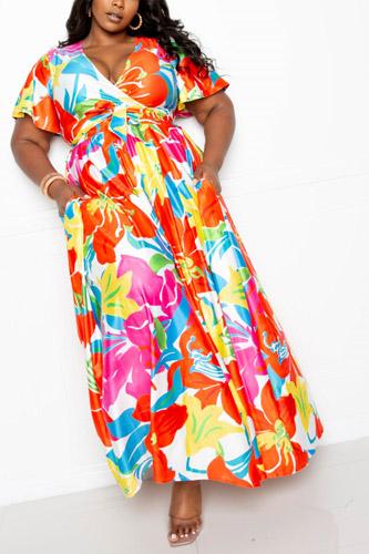 Flower Maxi Skirt&top Set